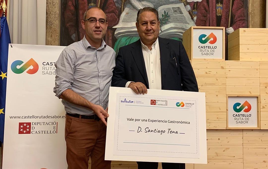 """El vilafranquí Santiago Tena guanya el Concurs de Receptes """"Castelló Ruta de Sabor"""""""