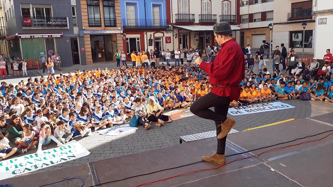 Els escolars de Benicarló protagonitzen els actes del Correllengua